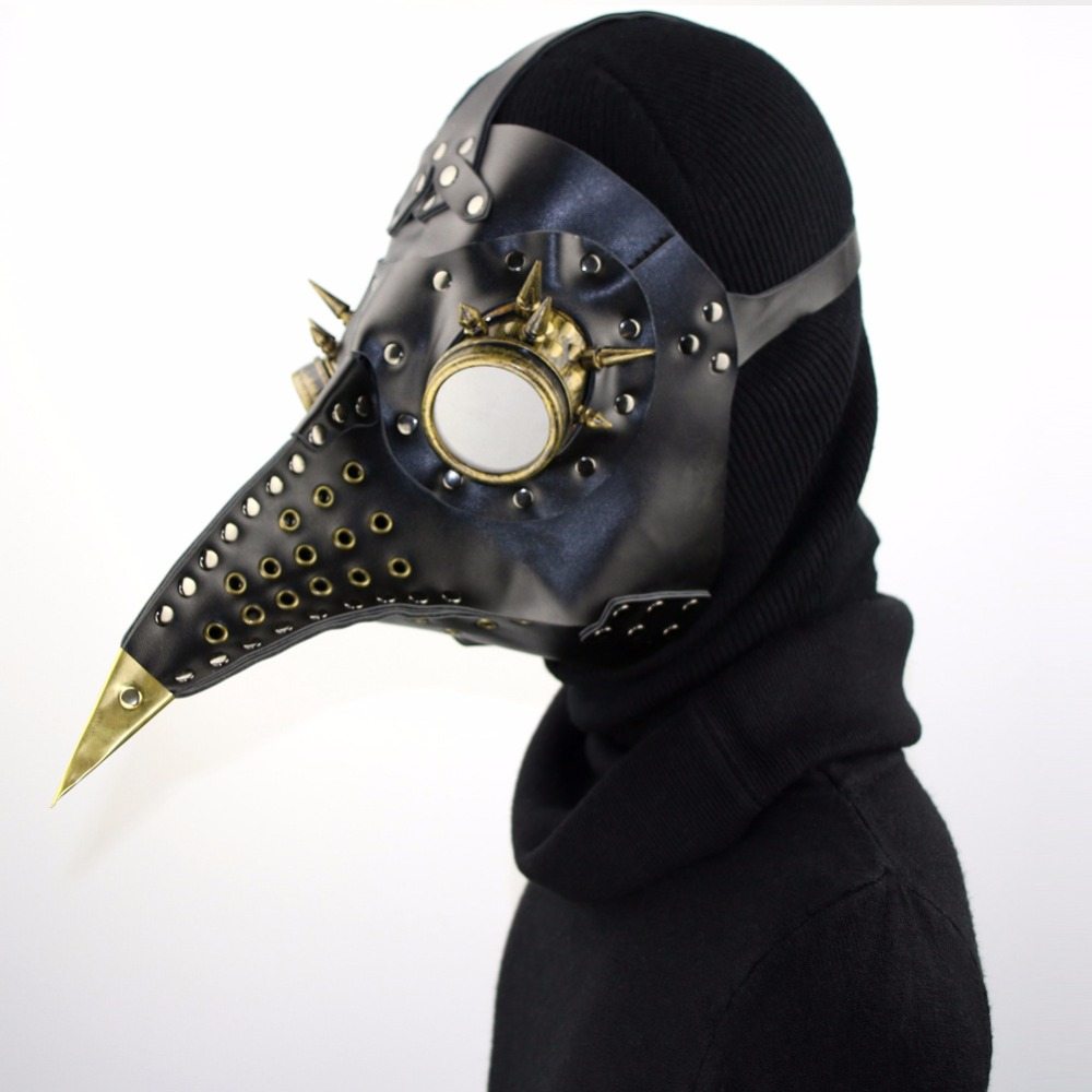 Aliexpress.com : Buy cospaly Dr. Beulenpest Steampunk Plague Doctor Mask Beak Masks Steampunk Black PU Birds Halloween Art cosplay Carnaval Costume from ...