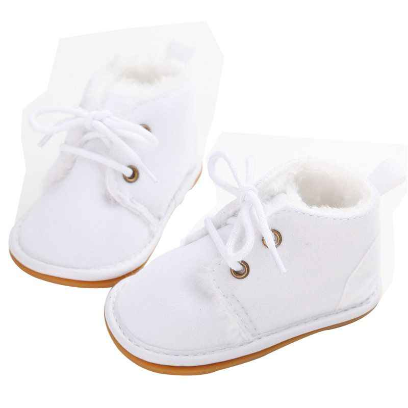 4e48c76d8 ... Для новорожденных мальчиков и девочек обувь на шнуровке Фрист ходунки  детские осенние ребенка теплые зимние ботинки ...