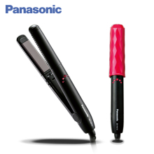 Panasonic EH-HV10-K865 выпрямитель для волос, инновационное покрытие пластин, компактный дизайн, выпрямление и завивка волос