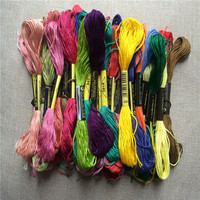 1 Bag 45skein Bag Randomly Color Cross Stitch Thread 100 Cotton Embroidery Thread Floss Sewing Skeins
