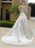 а линия свадьба платье свадебное платье с рукавами любой размер / цвет