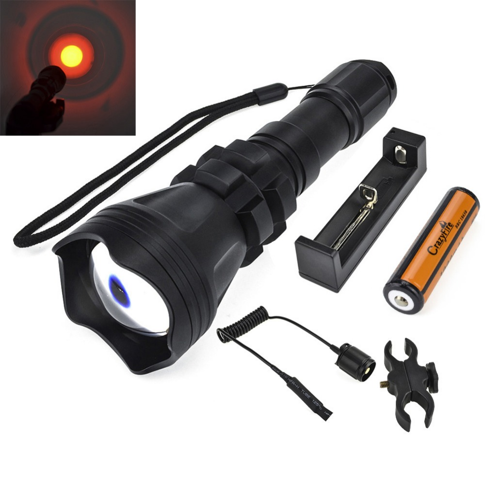 2000 Lumen Cree XM-L L2 LED Flashlight Torch 1 Mode Zoomable Tactical Hunting Lanterna Waterproof+Rechargeable 18650+Gun Mount cree xm l2 flashlight 5000lm adjustable zoomable led xm l2 flashlight lamp light torch lantern rechargeable 18650 2chargers z30