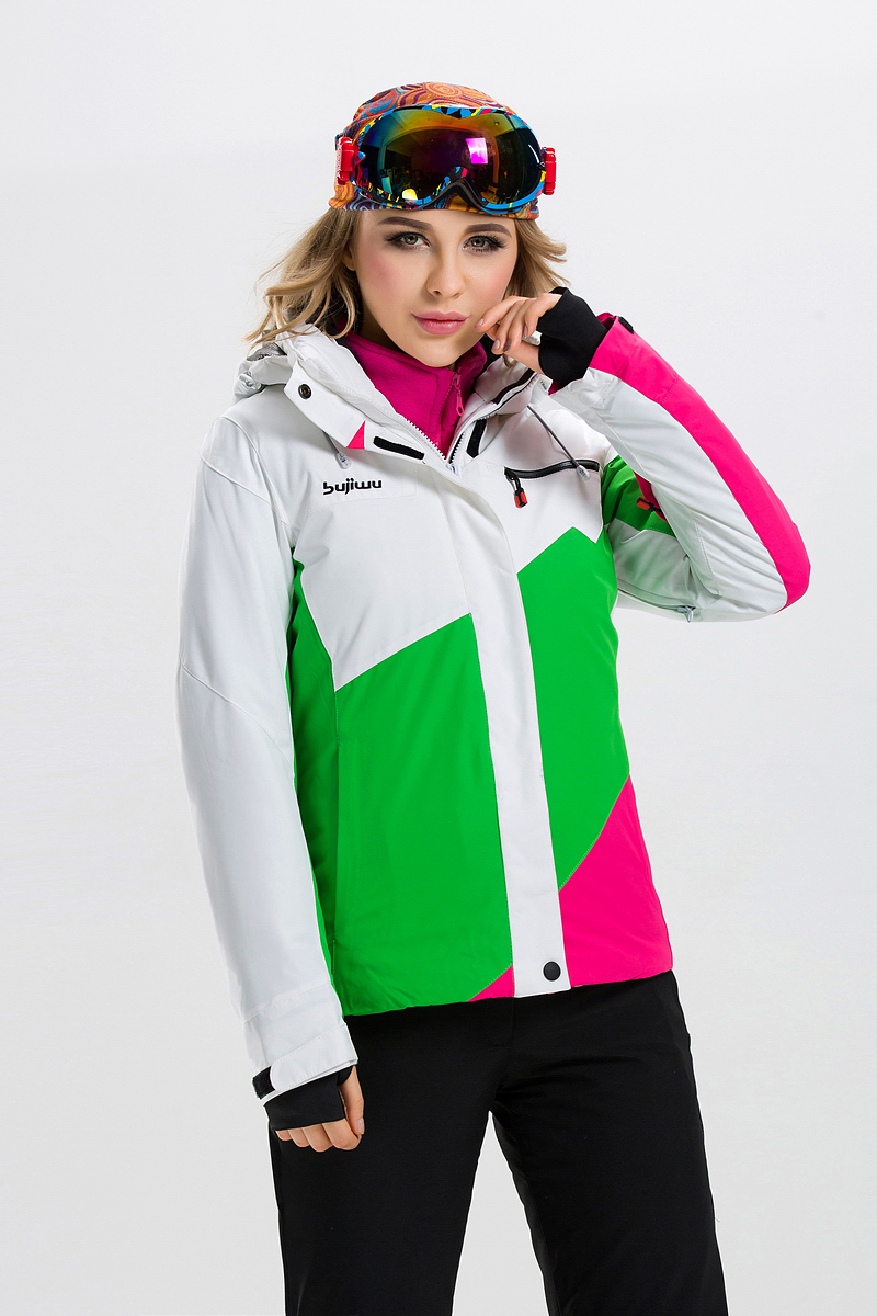 ФОТО Female Ski Jacket Windproof Waterproof Outdoor Sport Wear Breathable Women Skiing Snowboard Super Warm Clothing Thicken Coat HOT