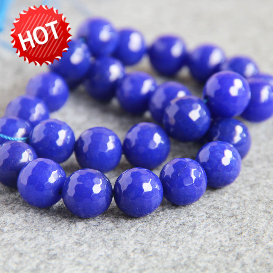 இNew For Accessories 14mm Facet Dyed lapis lazuli beads stones DIY ...