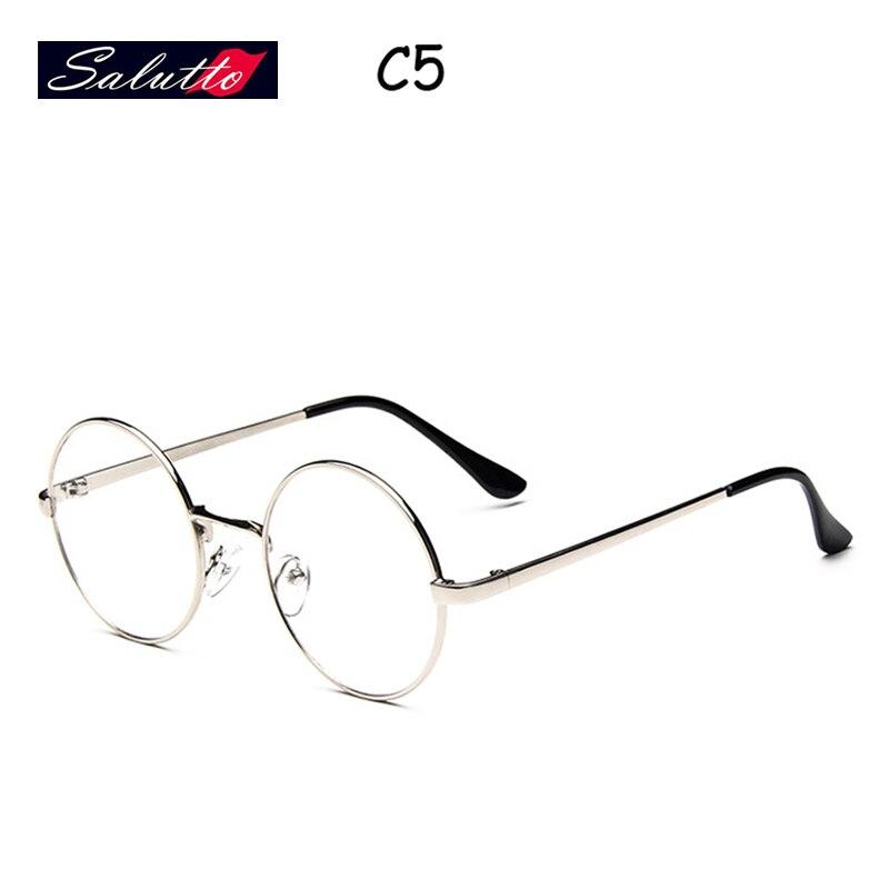 SALUTTO Mens Classic Style Retro Large Round Eyeglasses Metal Frame ...