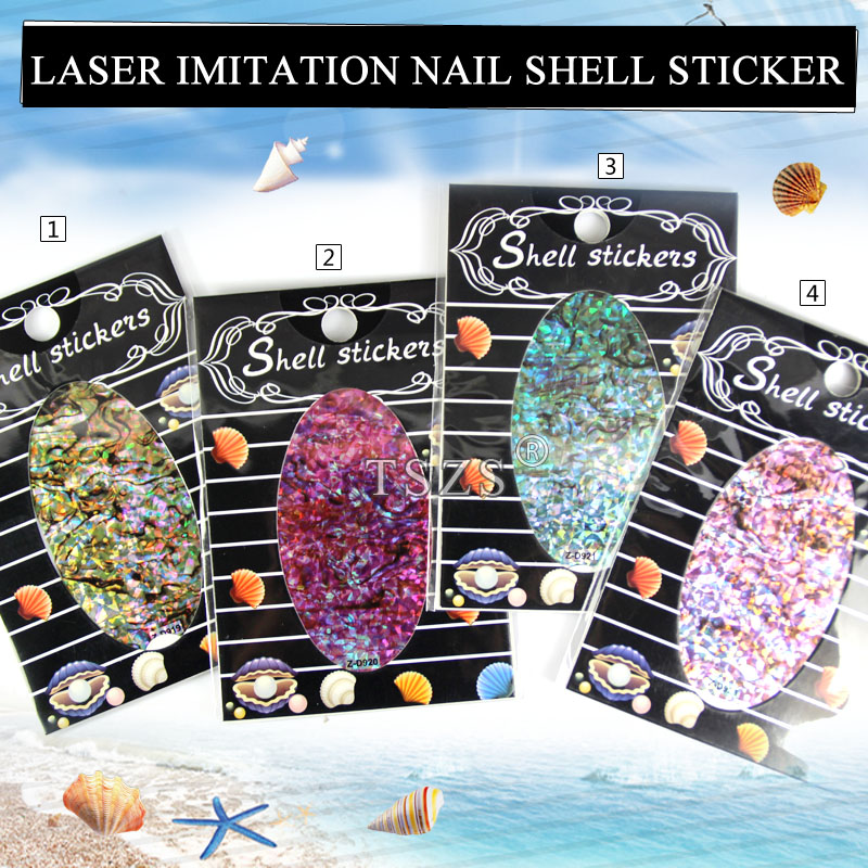 14pcs/lot 3D Texture & Pattern Nail Art sea shell sheet Decoration Decals Sticker DIY Girl