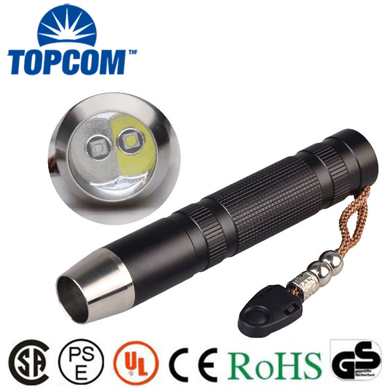 5W LED White Light + UV Light or Yellow Light Torch Gems Stone Jewelry Detector Testing Jade Flashlight white purple yellow light led flashlight stainless steel torch 18650 rechargeable uv torch olight jade identification href