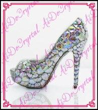 Aidocrystal frauen schuhe pumps benutzerdefinierte weiblichen edlen diamant hochzeit schuhe elegante frauen high heels schuhe 10 cm 12 cm 14 cm