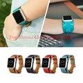 Новый 1:1 Оригинальное Качество Манжеты Браслет Ремешок Кожаный Ремешок для часов для Pulseira Манжеты Apple Watch Band 42 мм 38 мм С Металлическим адаптеры