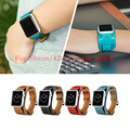 Nuevo 1:1 calidad original pulsera correa correa de reloj de cuero para pulseira brazalete apple watch band 42mm 38mm con metal adaptadores