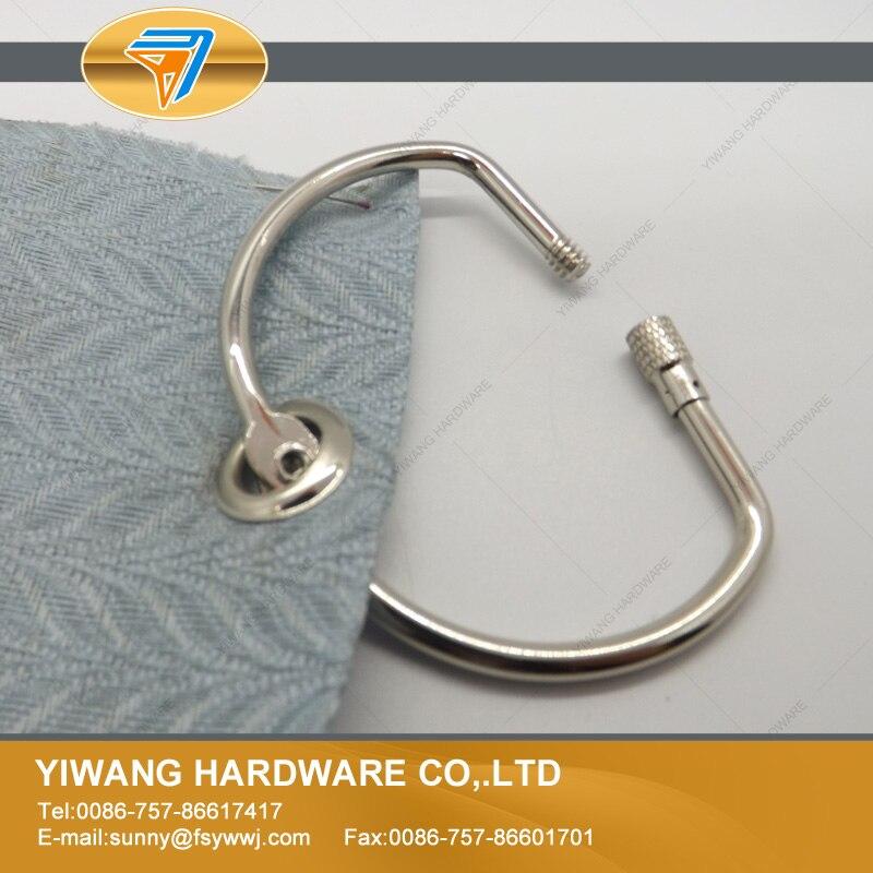 Wholesale 10pcs Nickel Screw Lock Binder Ring Hinged Rings Keychain Album Scrapbook Craft Photo Album Scrapbook Split D Ring