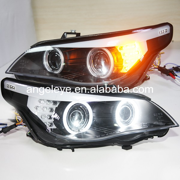 2003 2005 Year For E60 523i 525i 530i CCFL Angel Eyes Head Lights Head lamp For BMW original car with HID kit SN