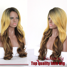 Honey Blonde Malaysian Hair Braided Wave Wigs Picture Color Synthetic Lace Front Wigs Heat Resistant Synthetic Hair Wigs