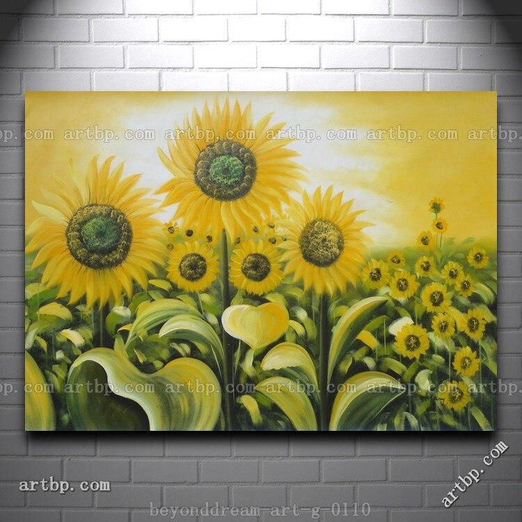 Mulia Bidang Bunga Matahari Lukisan Minyak Naturalisme Lanskap Bidang Bunga Dekorasi Rumah Dinding Seni Tari Shippin Gratis Sunflower Field Nature Landscapeoil Painting Nature Aliexpress