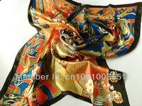 бесплатная доставка! 100% чистый шелковый шарф, 90 см * 90 см площадь шарфы, китайский опера печать шарф