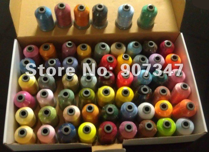 100/% Polyester 2 ply Sewing Machine Thread 100 Tubes Spools LOT-300 meters each