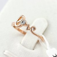 18 к покрытие из розового золота прозрачный кристалл влюбленность помолвка кольцо