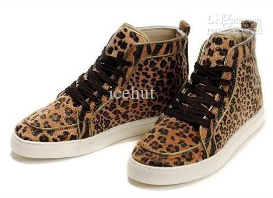 d34af58529f8 red cloth icehut yy New Men s Cheetah Print Sneaker High Cut Shoes with  shoelace + original