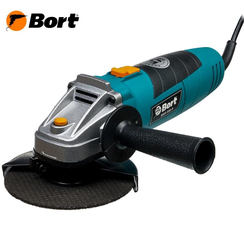 Angle grinder Bort BWS-500-P bort bps 500 p 93720315 электрический лобзик blue