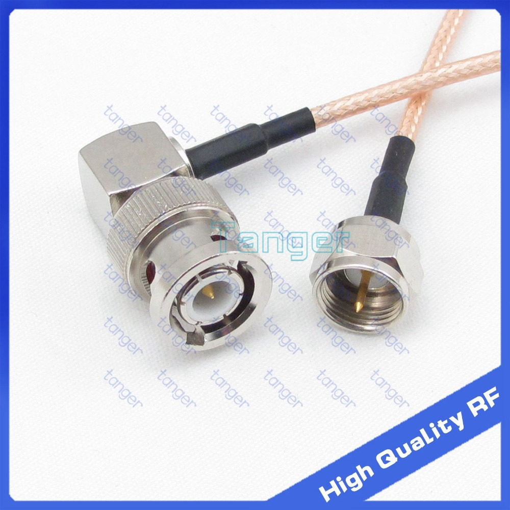 12 INCH BNC Male PLUG to BNC Male PLUG Jumper Pigtail Cable RG316 LOW LOSS USA