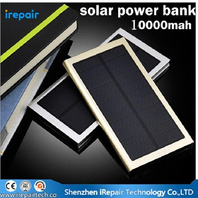 New Ultra Thin Super Slim Metal 8000mAh Solar PowerBank 8000 MAH Sun External Battery Pack