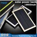 Nueva Ultra Thin Súper Delgada de Metal 8000 mAh PowerBank 8000 MAH Solar Solar Paquete Externo de La Batería