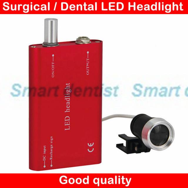 2016 1 W LEVOU bateria recarregável farol farol Head Light lâmpada Cirúrgica Dental Médica portátil