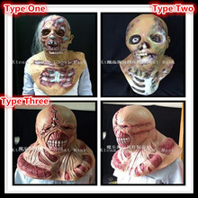 Popular Newest Halloween Party Cosplay Latex Devil Horror Mask Rubber Halloween Zombie Mask Scary Ghost Head masks Scary Mask