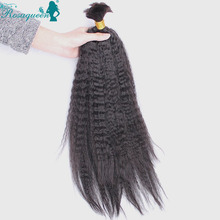 Kinky Straight Human Braiding Hair Bulk Brazilian Virgin Hair 2Pcs Lot Natural Black Human Hair For