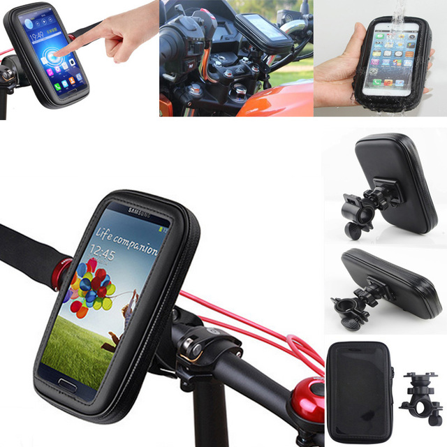 "6.0"" inch Big Bicycle Bike Mobile Cell Phone Waterproof Holder for Xiaomi mi5s plus/Huawei Mate"