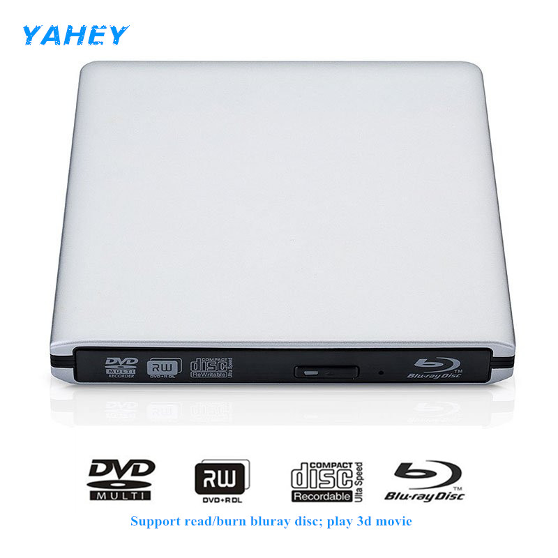 цена на USB 3.0 Bluray Drive BD-RE Burner External DVD-RW/RAM Writer Blu-ray CD/DVD-ROM 3D Player Superdrive for Laptop Apple Macbook PC