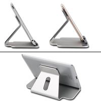 Universal Premium Aluminum Metal Mobile Phone Tablet Desk Holder Stand For IPhone 6 7 Plus Samsung