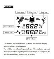 диктант жк-дисплей для солнечной регулятор с кабель 2 м