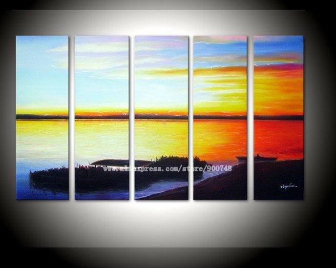 Aliexpress.com : Buy art Hand painted free shopping Sun beach ...