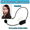 Free Shipping!Hands-free Wireless FM Condenser Microphone Headset Megaphone Radio For Speaker