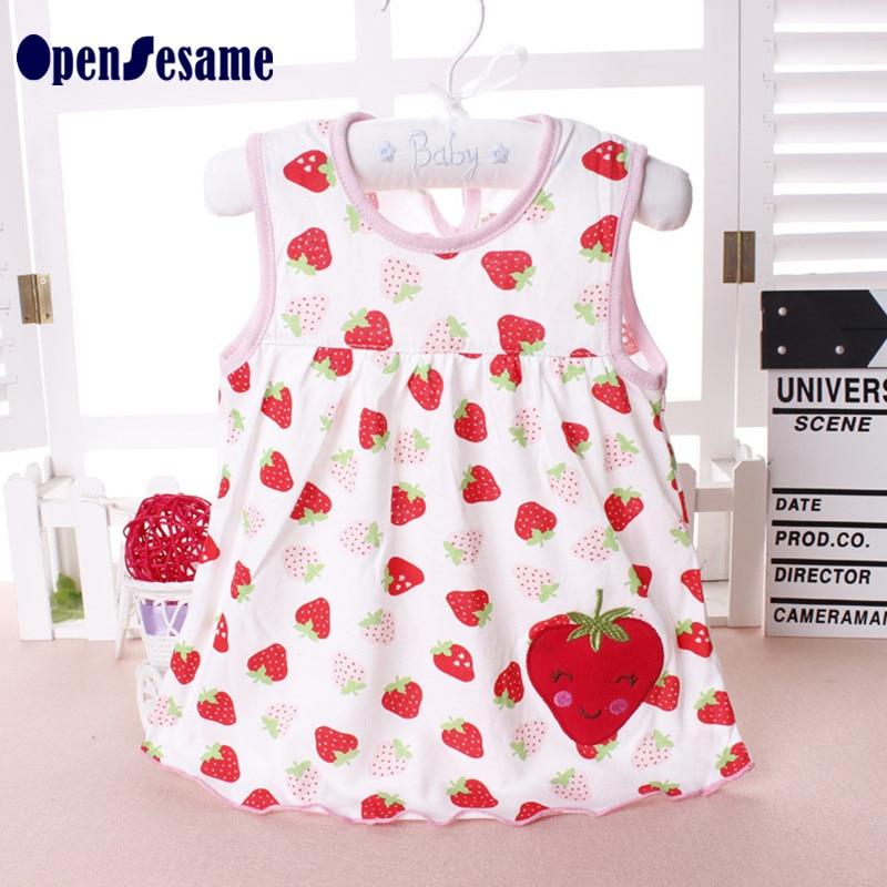 Cotton Summer girls dress font b baby b font girl clothes sleeveless dress girl Princess dress