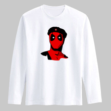 Deadpool Soldier 3XL T Shirt Men Cotton Long Sleeve Dead Pool Funny T-shirts and Shirts in Black/White Cotton Tees Men xxs