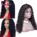 Virgin Brazilian Curly Front Lace Wig With Baby Hair 180 Density Glueless Kinky Curly Lace Front Human Hair Wigs For Black Women