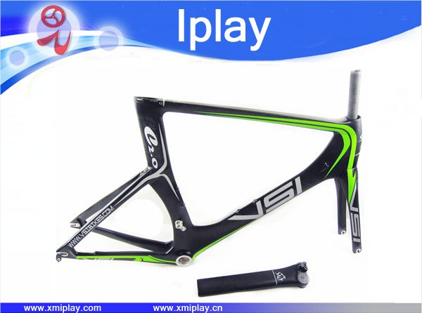 2016 promotion carbon time trial bicycle frame T700 carbon TT frame +fork+seatpost+headset pre trial detention