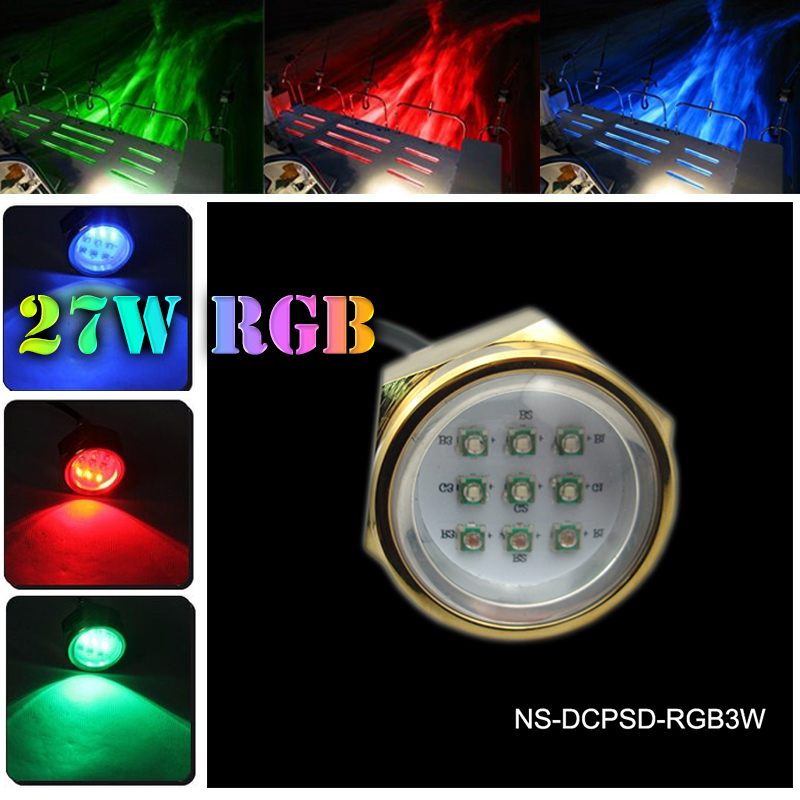 Hot sale 27w boat under water lights,super bright drain plug light,multi color boat underwater lights ip68 waterproof water paddle boat hand boat for child under 7 years old