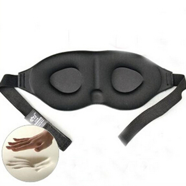caf84c0b247 New Style 3D Eyeshade Eye Mask Travel Sleep Memory Foam Padded Shade Cover  Sleeping Blindfold Best Selling