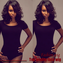 Cheap Sale Malaysian Hair Short Wave Bob Wigs Synthetic Lace Front Wigs Side Part Black Heat Resistant Synthetic Hair Wigs