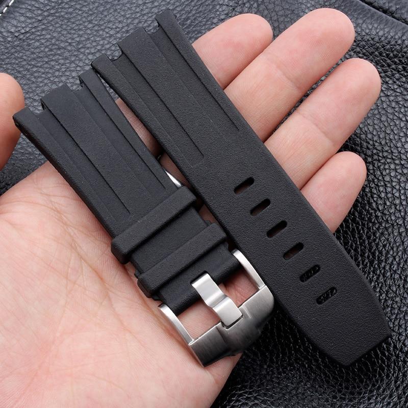 28mm AP rubber watch band Bracelet strap for AP Royal offshore oak automatic watch belt 15400OR