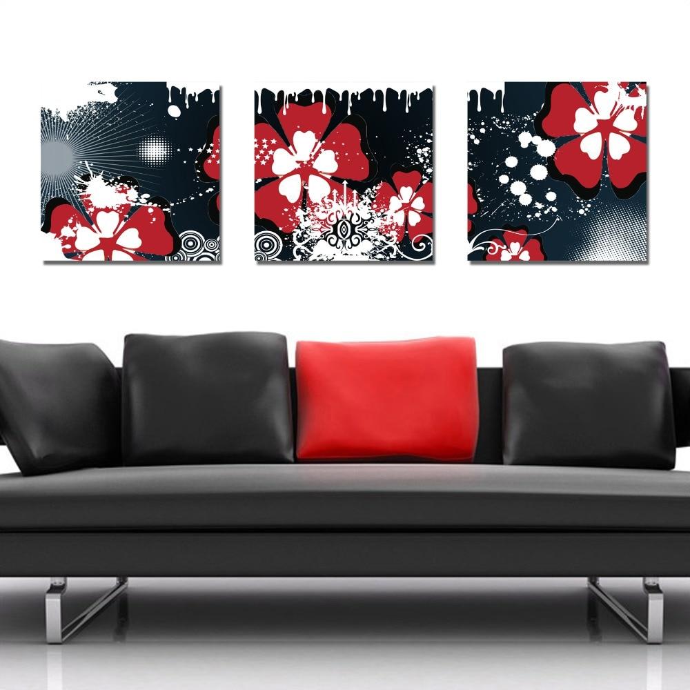 Online kopen wholesale zwart wit rood canvas olie verf uit china ...