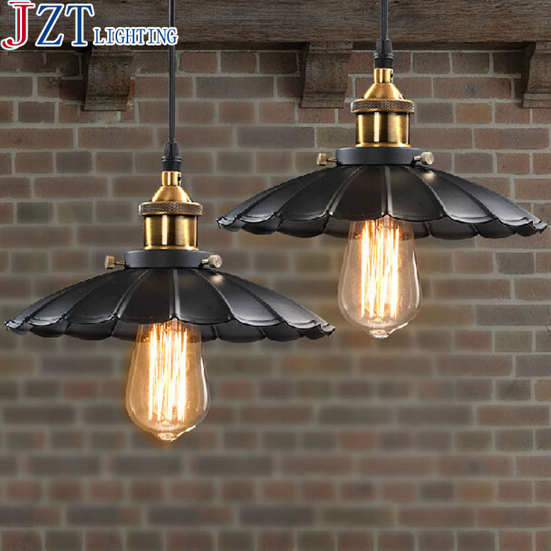 M American Industrial Vintage Pendant Light retro The cafe Creative Glass Droplight Bar Lighting Clothing Store Lamp D24cm vintage edison chandelier rusty lampshade american industrial retro iron pendant lights cafe bar clothing store ceiling lamp