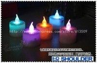 20 шт./новый лот романтично управление Goose 7 изменение цвета мини из светодиодов электронные свечи свадьба / украшения НД гирлянда бесплатная доставка