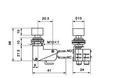 Кнопочный переключатель, микро-переключатель, кнопочный переключатель вкл-(вкл