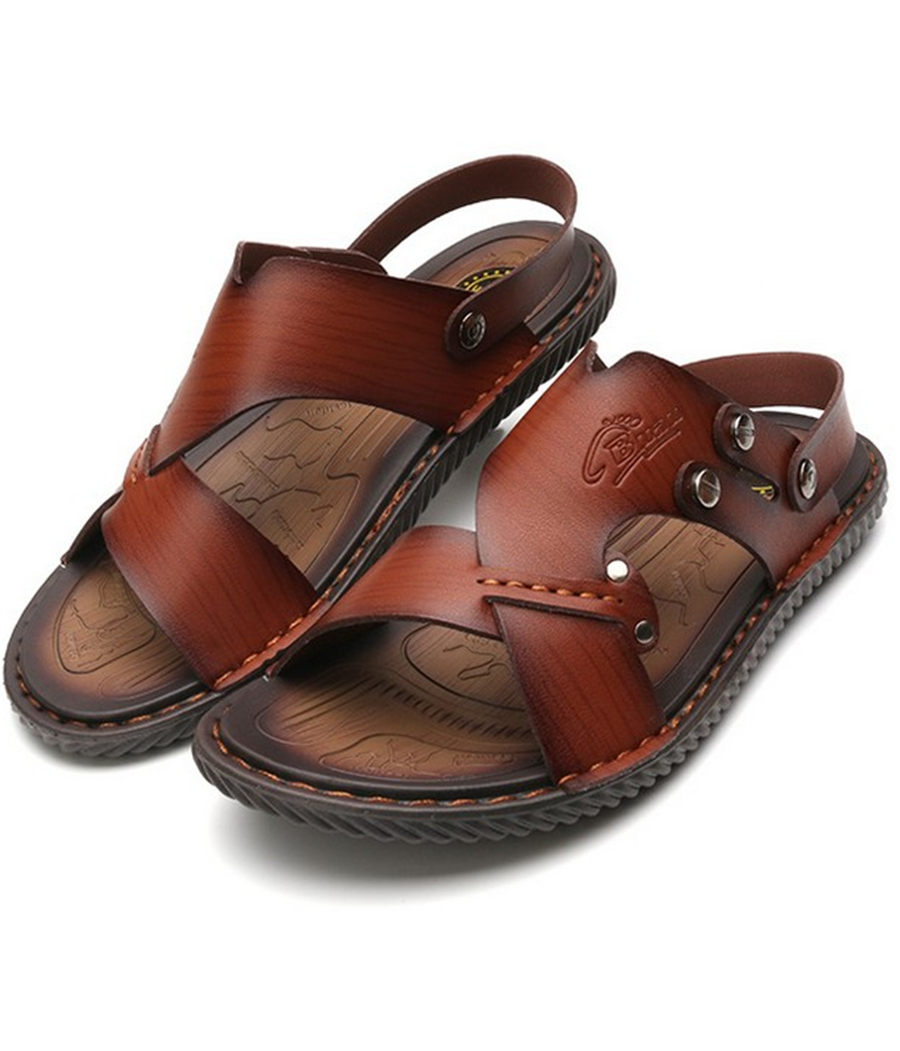 2016 spring new European and American fashion sandals men casual Microfiber Beach