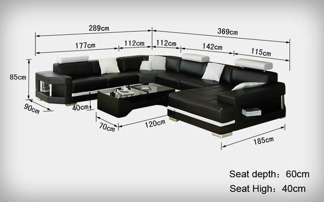 Groovy Us 1568 0 Big White And Black Leather Corner Sofa 0413 K5012 In Living Room Sofas From Furniture On Aliexpress Cjindustries Chair Design For Home Cjindustriesco