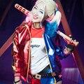 2016 Nuevo Batman Comando Suicida Harley Quinn Cosplay Disfraces Mujer Abrigos Chaqueta femme chamarras de batman para mujer 1717